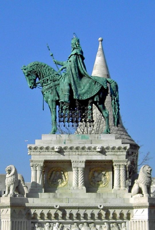 Statue of Stephen of Hungary,  Budapest.