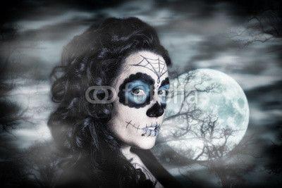 Sugar Skull mit Hintergrund
