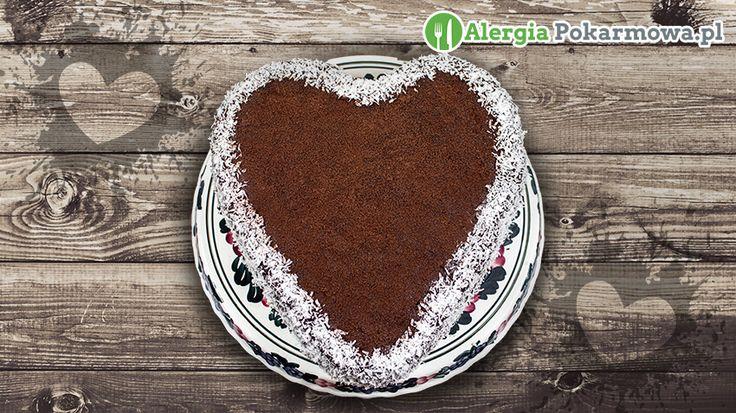 Torcik z kremem czekoladowym (bez pszenicy, mleka, jajek)