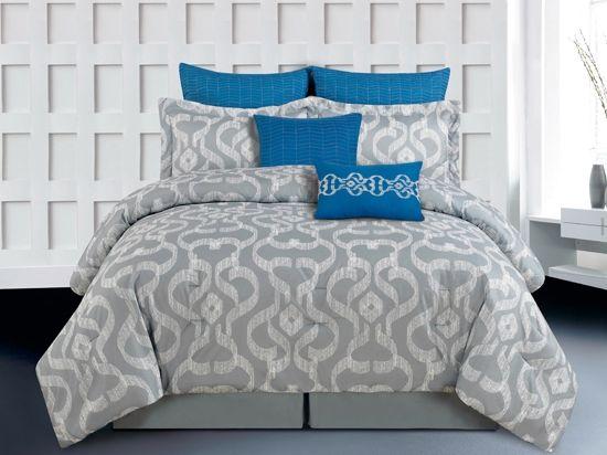 1000 ideas about grey comforter sets on pinterest gray bedding vintage bedding and bedroom. Black Bedroom Furniture Sets. Home Design Ideas