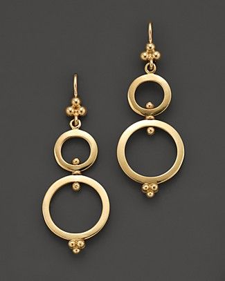 Temple St. Clair 18K Yellow Gold Double Ring Earrings | Bloomingdale's