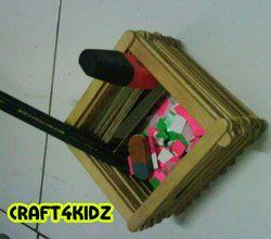 ICE CREAM STICK CRAFTS | Make a pencil holder from ice cream sticks | Craft For Kids