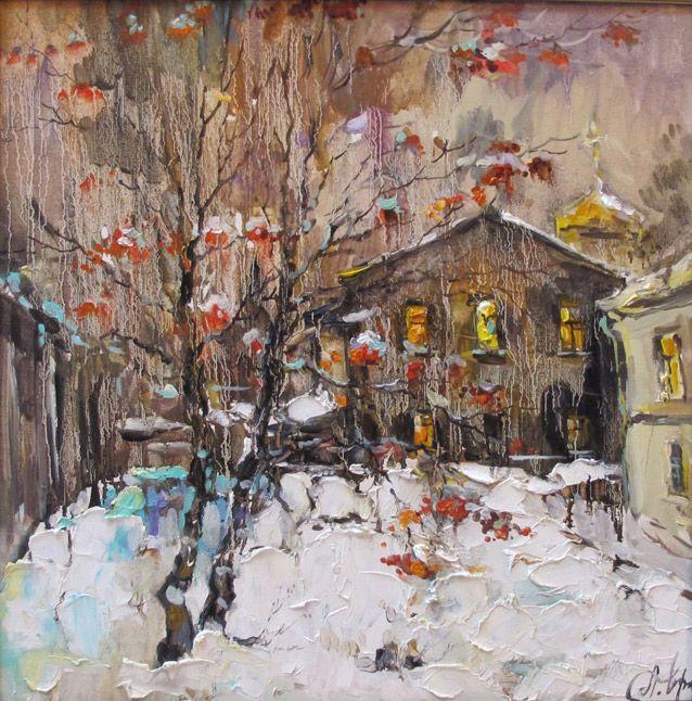 художник  Чарина Анна,  Дворик в Гагаринском переулке