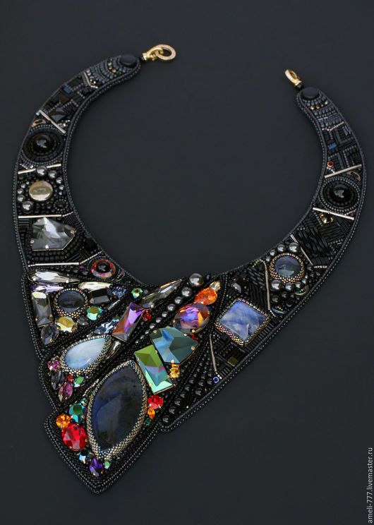 """Finalist IBA, embroidered necklace """"CASSIOPEIA"""". Irina Rudnev, Moscow."""