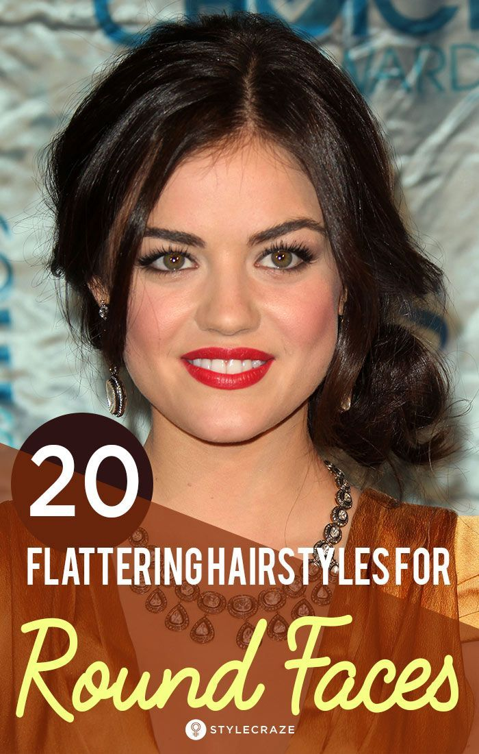 20 Most Flattering Haircuts For Round Faces Hair For Round Face Shape Round Face Haircuts Curly Hair Styles Naturally