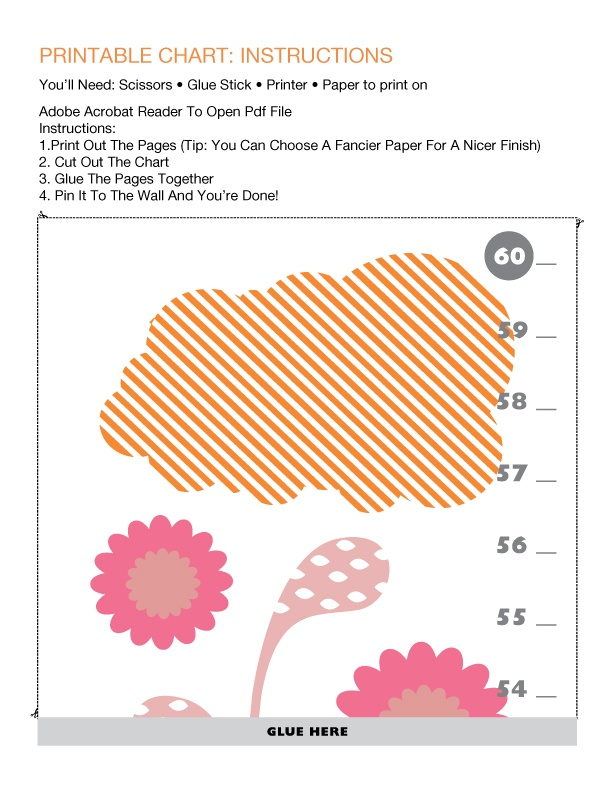 30 best height charts images on pinterest growth charts for Growth chart for kids room