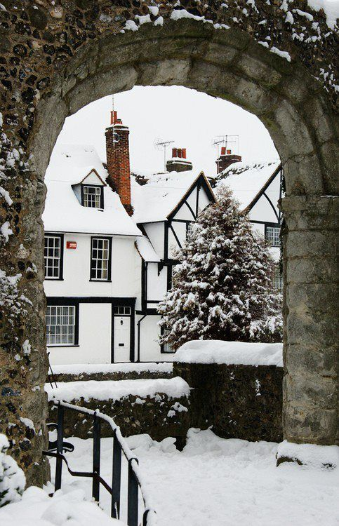 Canterbury, England. I've been here but it was in July. Beautiful!