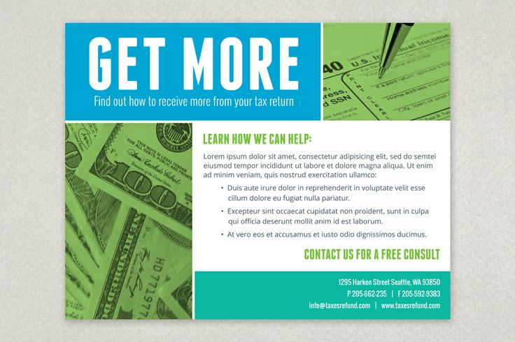 Maximum Tax Refund Flyer Template Flyer Design Templates
