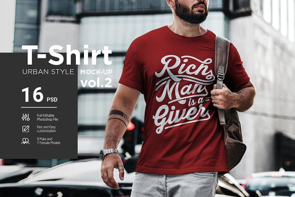 Download T Shirt Mock Up Urban Style Vol 2