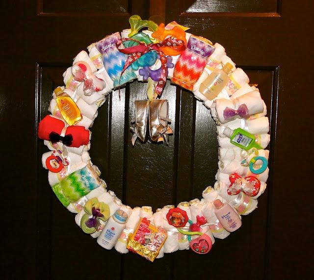 Baby Shower Wreath Instructions: DIY Baby Shower Wreath