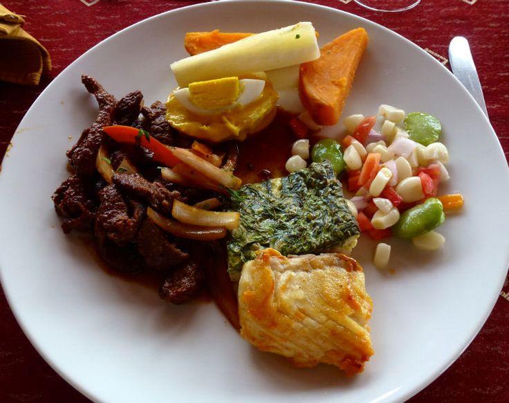 dinner first evening on board #AmazonAdventure #AtoZChallenge  P: Peruvian foods on board
