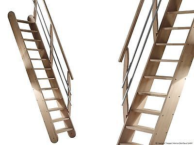 Raumspartreppe Living Treppen Intercon Holztreppe Buche