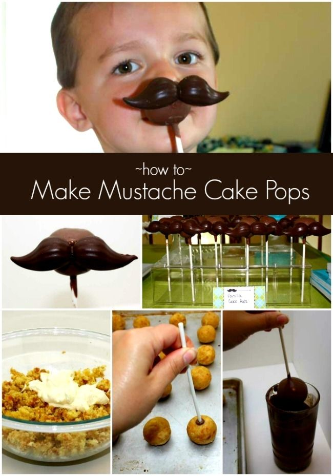 How to Make Mustache Cake Pops www.spaceshipsandlaserbeams.com