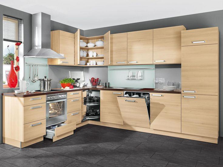 Küchen nolte mit dem rohstoff holz sieht also wunderbar