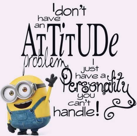 I don't have an attitude problem, I just have a personality you can't handle!