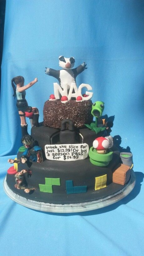 NAG magazine's 17th birthday cake made by www.bakentake.co.za