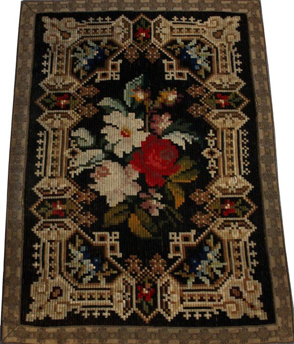 Lot: EUROPEAN NEEDLEPOINT PANEL, Lot Number: 121510, Starting Bid: $100, Auctioneer: DuMouchelles, Auction: Antique Furniture, Fine arts and Jewelry, Date: December 17th, 2016 MST