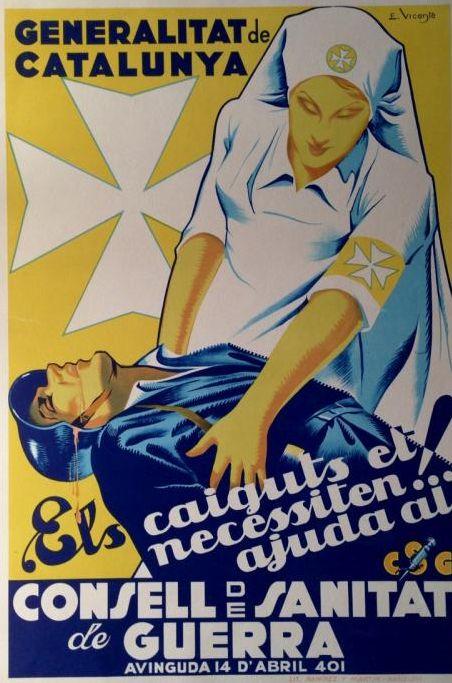 Spain - 1937. - GC - poster - Consell de Sanitat de Guerra, Catalunya - autor - Eduardo Vincente