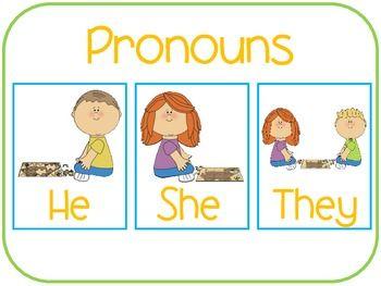 FREEBIE for Plural Pronoun: They!