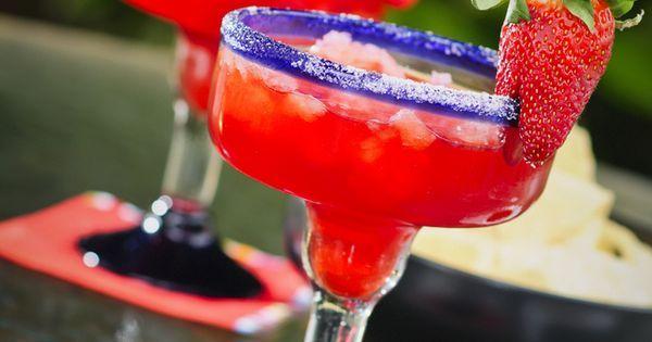 Margarita de Fresa (sin alcohol)   Recipe   Margaritas and Alcohol