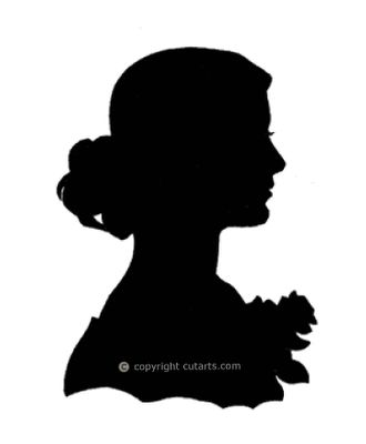 Old Fashion Silhouette Clip Art | On the Connecticut: Profile of a silhouette artist