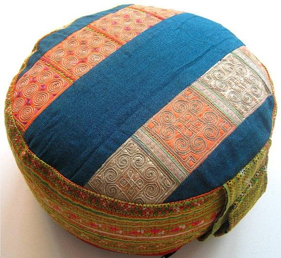 Blue Meditation Cushion Yoga Relaxpillow Cushion ZAFU