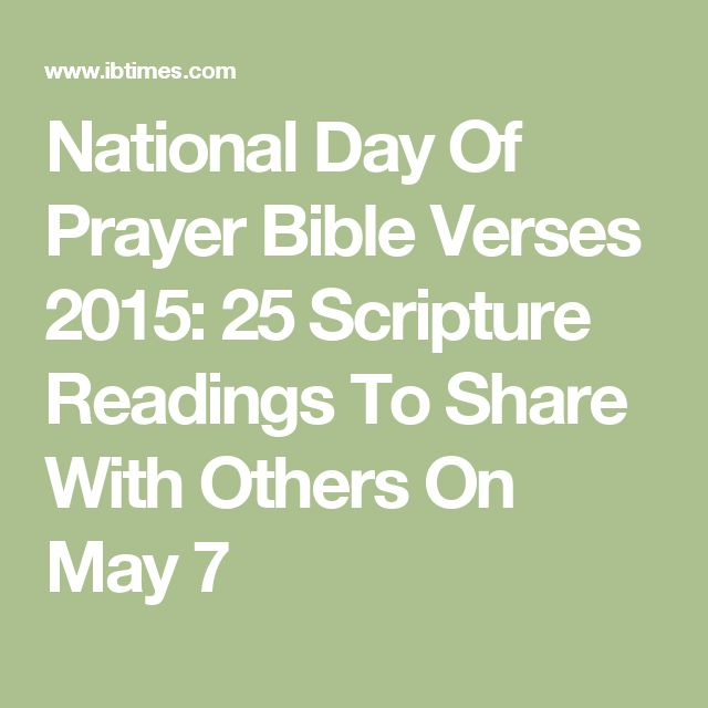 National Day Of Prayer Bible Verses 2015: 25 Scripture Readings To Share With Others On May 7