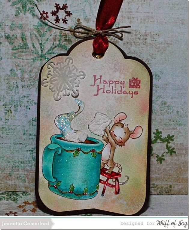 Happy Thoughts & Inkspots: Whiff of Joy ~ A Christmas Tag