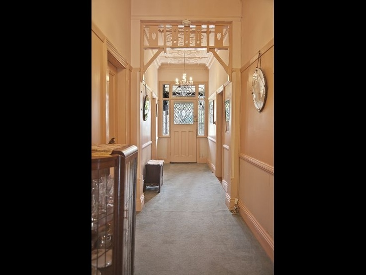Fine fretwork arch and leadlight windows and magnificent woodwork