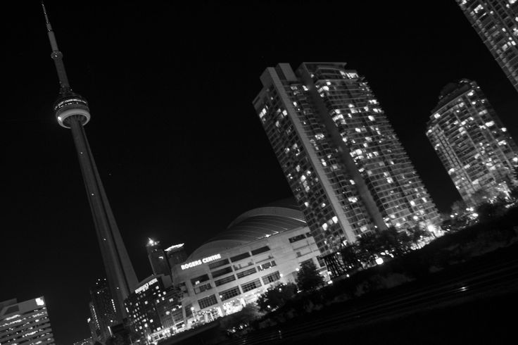 Photograph during Nuit Blanche 2014 CN tower