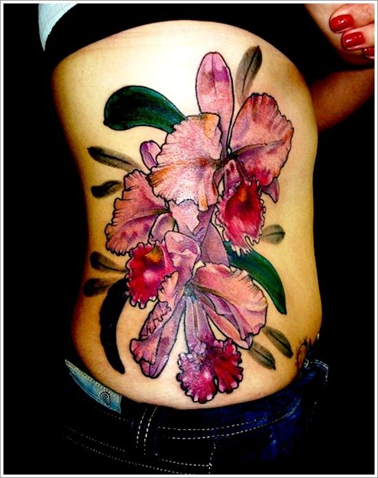 20 best beautiful orchid tattoo designs images on pinterest blossom tattoo female tattoos and. Black Bedroom Furniture Sets. Home Design Ideas