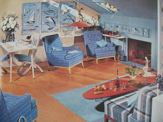 1950s Attic Apartment by Library Fashionista, via Flickr