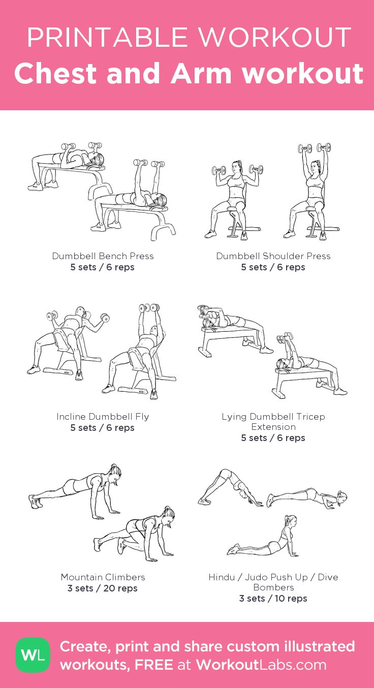 Chest and Arm workout:my custom printable workout by @WorkoutLabs #workoutlabs #customworkout