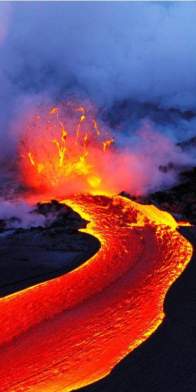 A Great Image the lava.Kilauea.Hawai.
