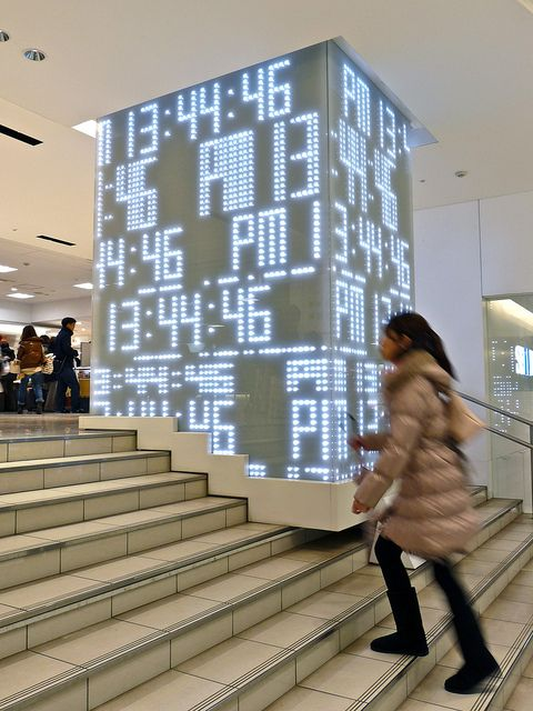 Clock of Light 光の時計 In the SEIBU 西武 池袋 department store in Ikebukuro Tokyo Japan by Arjan Richter, via Flickr