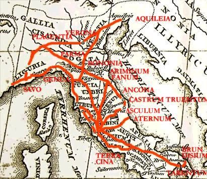 Map of ancient roman roads