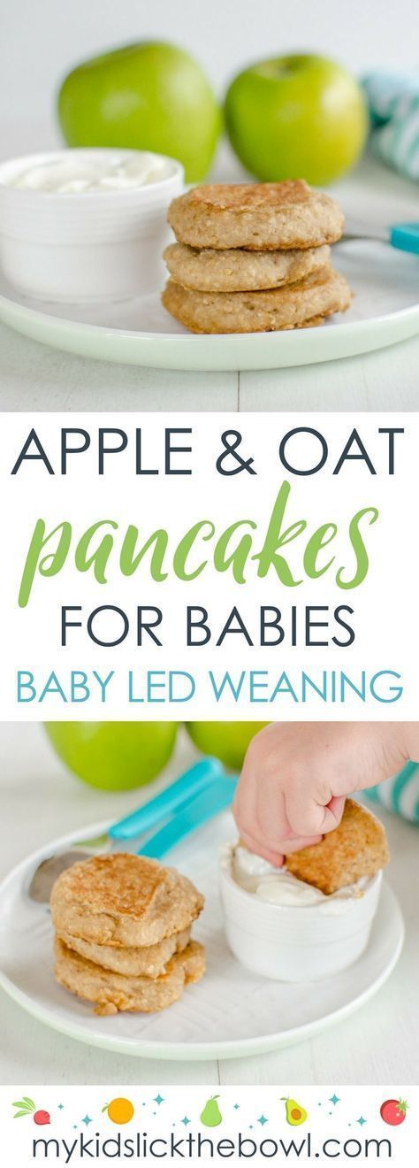 Baby Pancakes – Apple and Oat