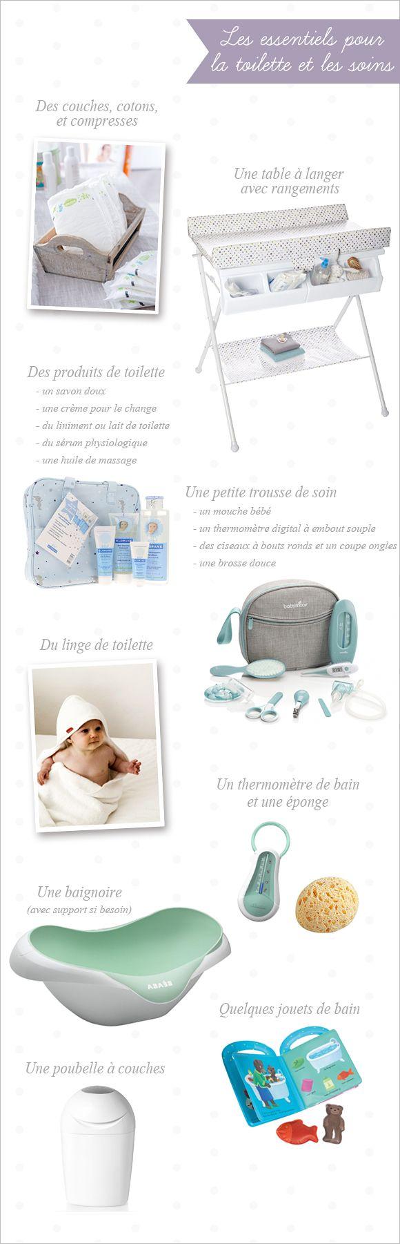 Objets et soins pour la toilette de bébé