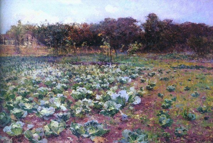 The Athenaeum - A cabbage field (Antonín Slavíček - )