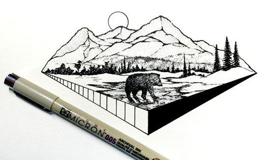 La #InspiraciónBI de hoy con #ilustración diaria en miniatura por Derek Myers Leer más: http://www.colectivobicicleta.com/2016/06/ilustracion-derek-myers.html