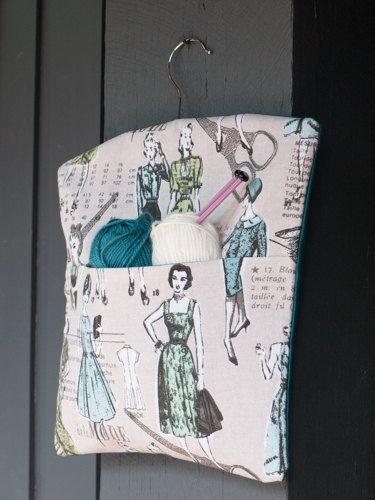 Fabric handmade vintage French fashion themed peg by freshdarling
