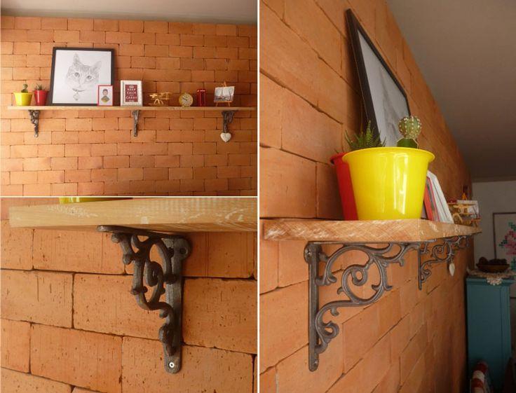 No post de hoje a Deisy ensina a fazer uma prateleira rústica súper fácil além de dar altas dicas pra quando você for furar uma parede.