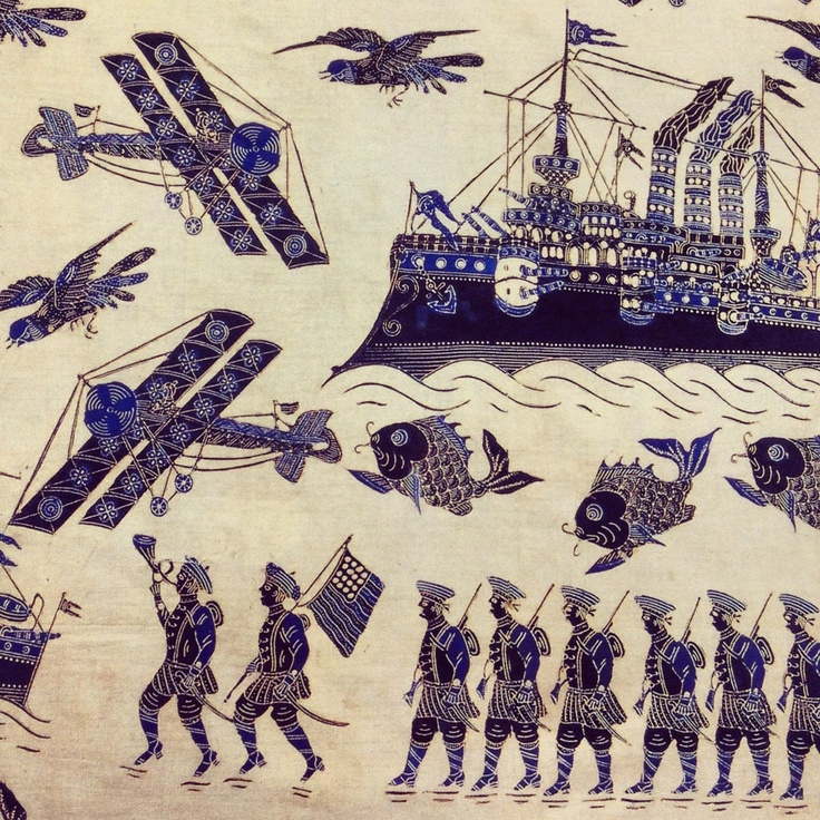Batik from Pekalongan, Indonesia, WW I