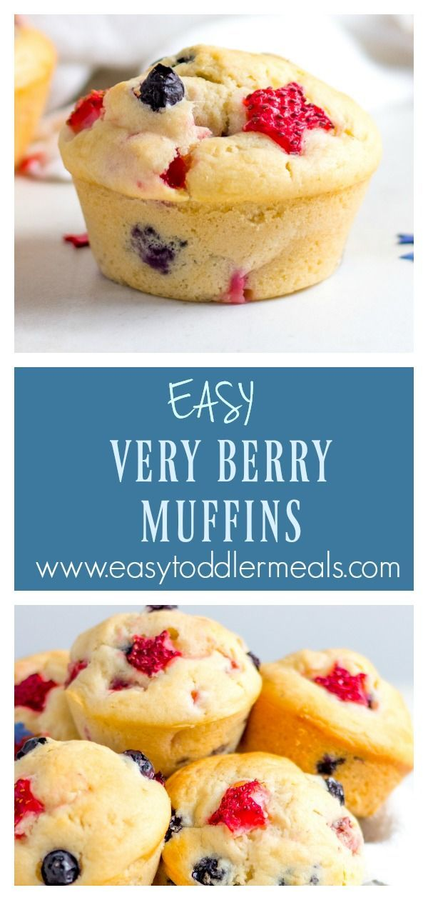 Super Berry Muffins – Such a tasty treat for breakfast or snack boxes!
