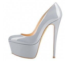 Onlymaker Womens Sexy Platform Round Toe High Heels Slip On Stiletto Party Dress Pumps
