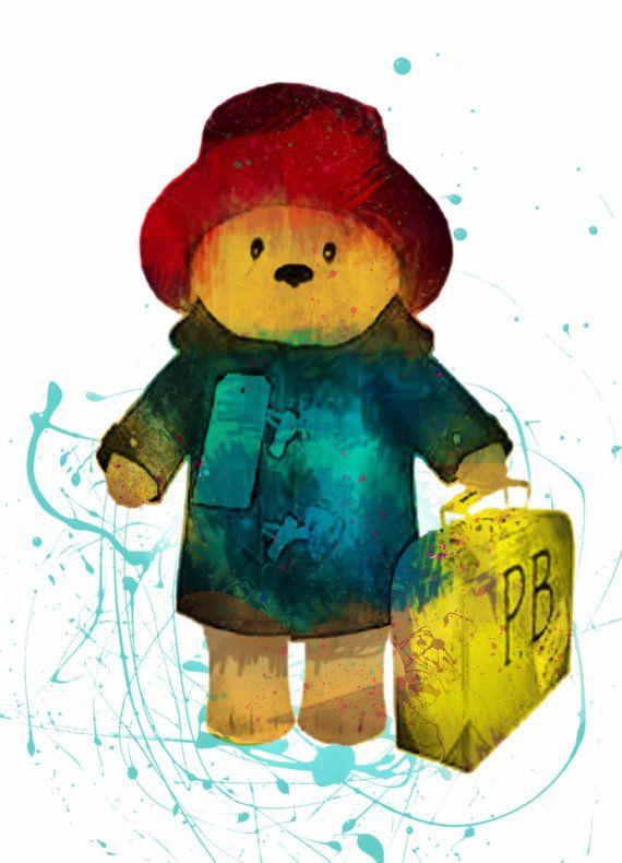 Paddington Bear Print  Paddington Bear Watercolor by DaniJArts