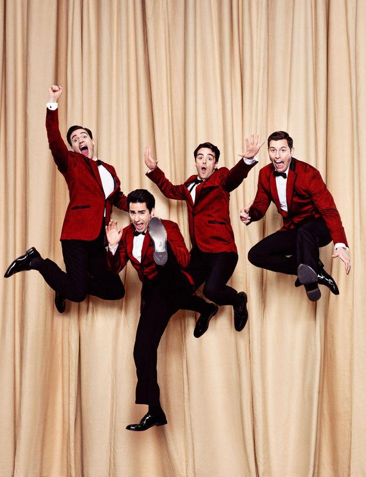 "John Lloyd Young, Erich Bergen, Vincent Piazza & Michael Lomenda in ""Jersey Boys"" (2014). Country: United States. Director: Clint Eastwood."