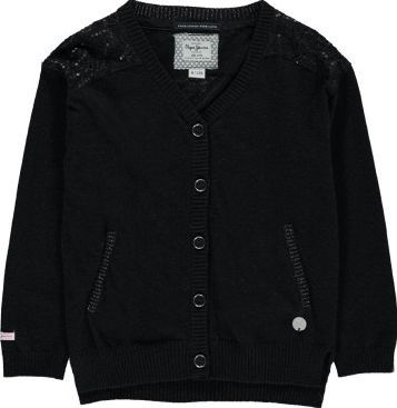Pepe Jeans Piera Cardigan Noir `4 years,6 years,8 years,10 Fabrics : Mixed Cotton Knit Details : Straight cut, Round neckline, Long sleeves, Slash pocket, Buttons, Lace, Sequins, Ribbing Composition : 35% Viscose, 27% Nylon, 20% Cotton, 16% Wool, 2% Cashmire http://www.comparestoreprices.co.uk/january-2017-7/pepe-jeans-piera-cardigan-noir-4-years-6-years-8-years-10.asp