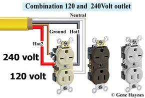 240-120 volt receptacle