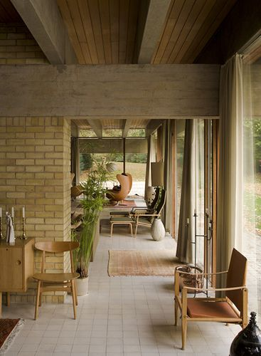 Povl Ahm House in Harpenden UK - Jorn Utzon - Completed in 1962